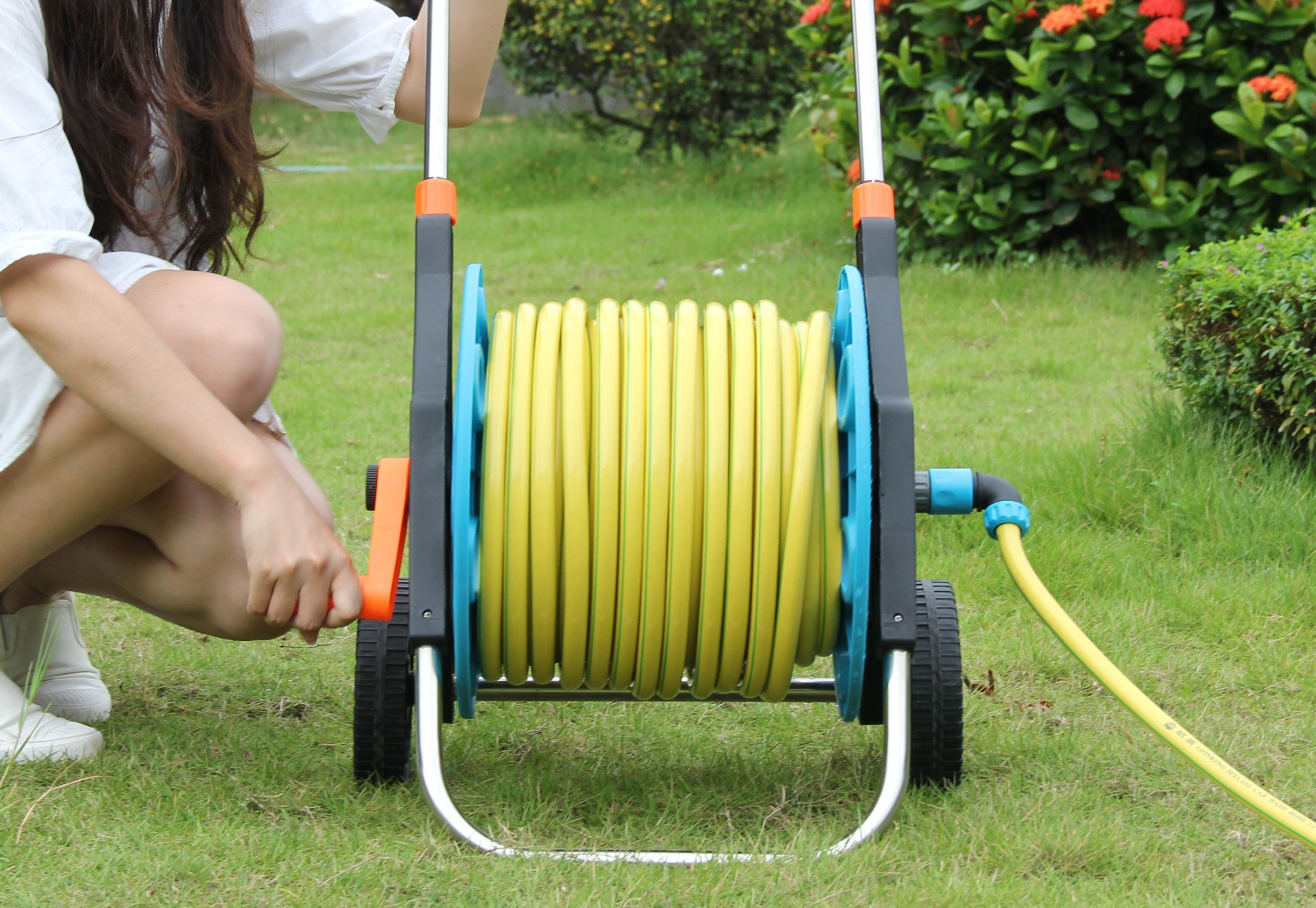 Water Hose Reel with Wheels for Gardening PRO Home Garden
