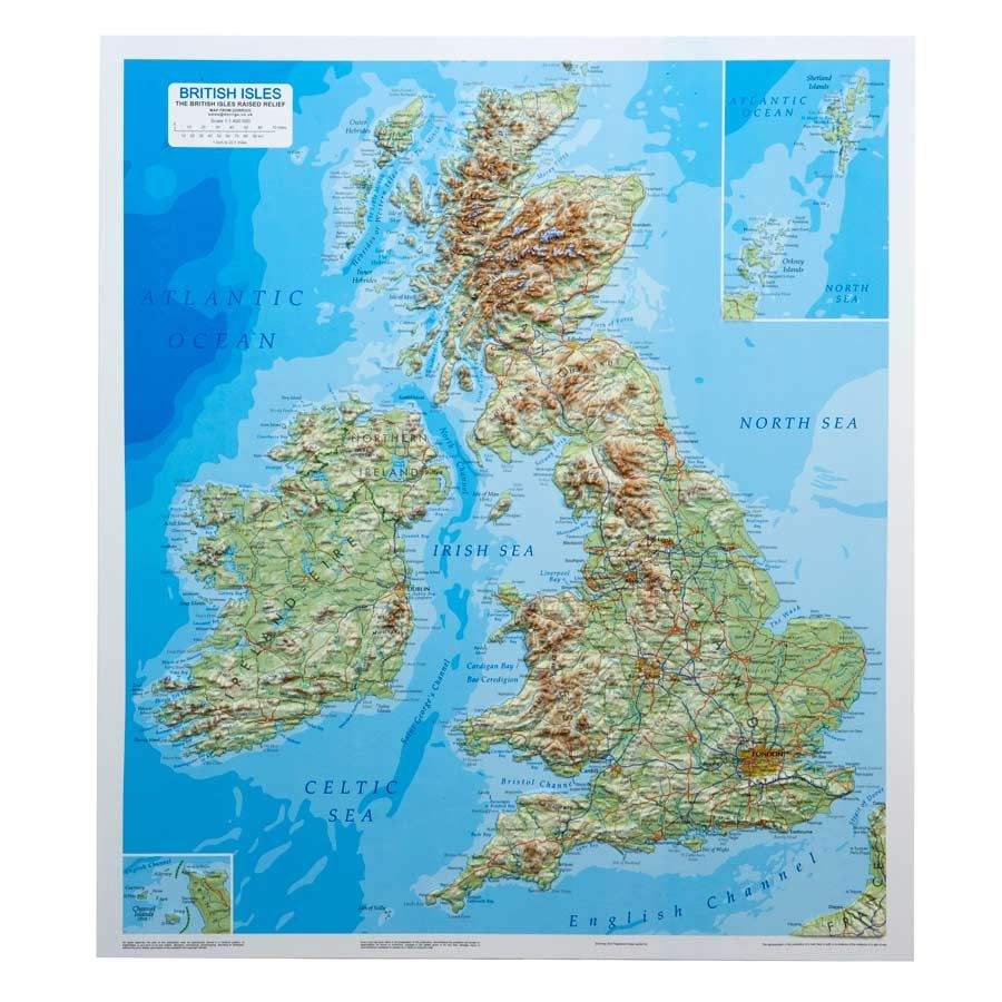 British Isles Raised Relief Map Pictures Pinterest Large format