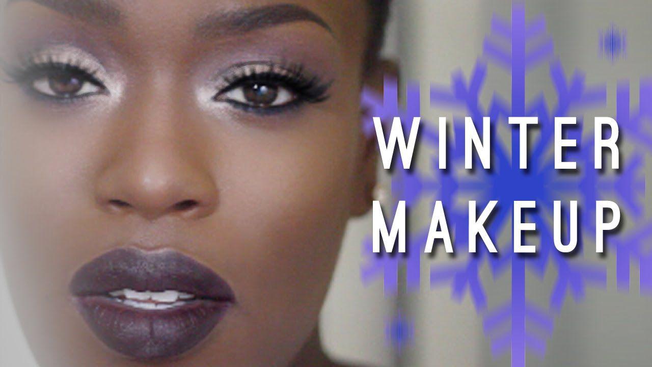 Winter Makeup | Dark Skin Dark Lips