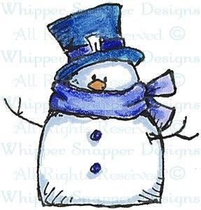 Petite Snowman - Christmas Images - Christmas - Rubber Stamps - Shop