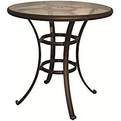 How Much Does Darlee Cast Aluminum Glass Top Round Bar Table, Antique  Bronze Finish Cost?