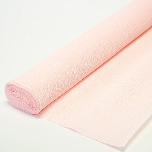 Italian Crepe Paper roll 180 gram - 569 Light Pink Cartot...