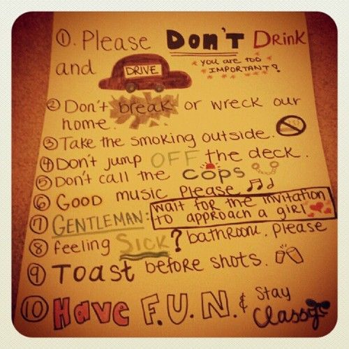 Party Rules, Halloween Party, Party