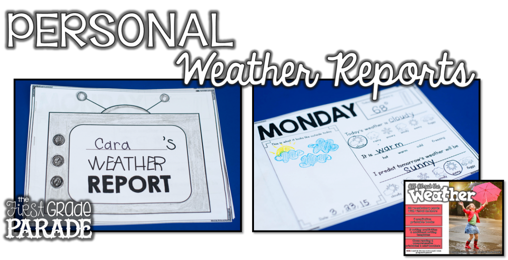 Learning about the weather is SO much fun!  These self directed weather reports are a great way to give students autonomy & prepare them with the tools to take their weather learning into their own hands!