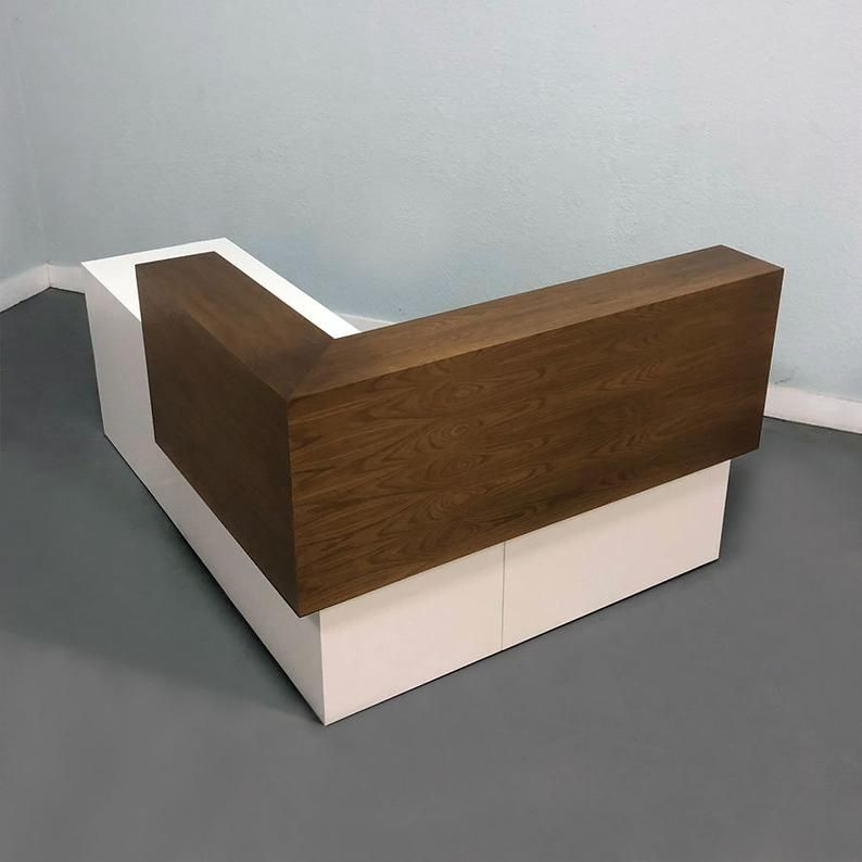 Los Angles L Shape Reception Desk In Custom Finishes In 2020 Reception Desk Front Desk Design Reception Desk Design