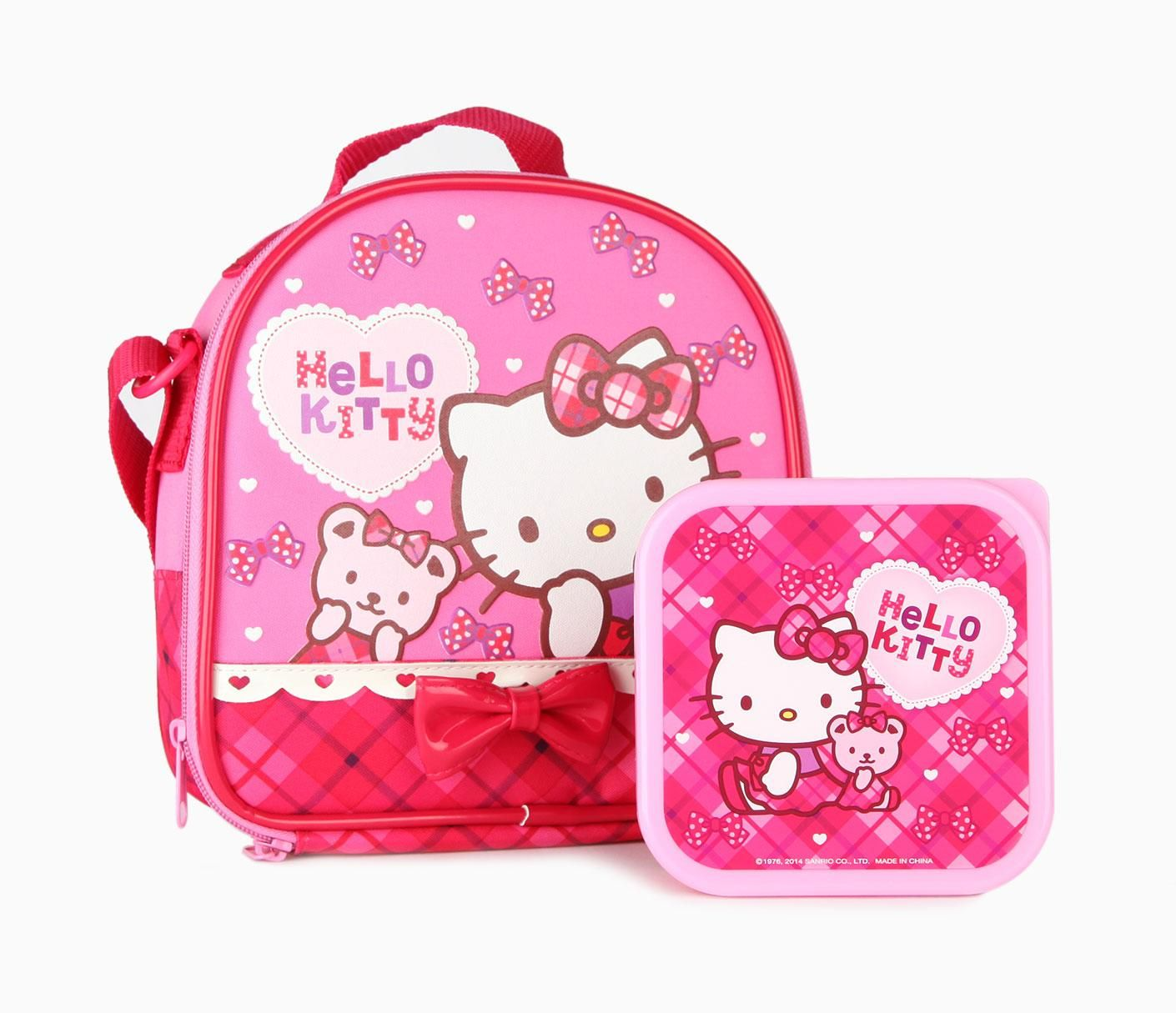 Hello Kitty Lunch Bag with Container: Sunday