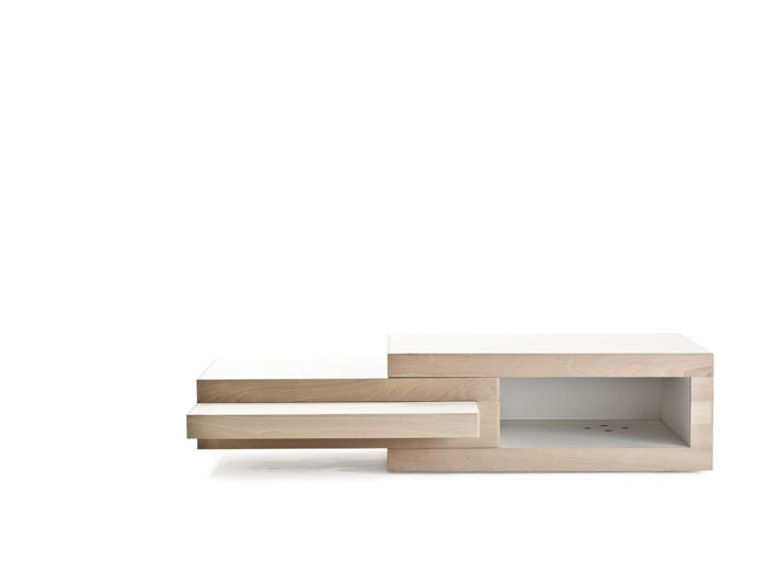REK Is A Coffee Table That Grows With Your Coffee Needs. The Two Inner  Parts Slide Out In Two Directions. Built In Stops Prevent From Extending  Them Too Far