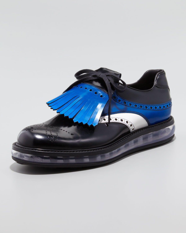 c5194319c08 Men s Designer Shoes on Sale at Neiman Marcus. http   ncrni.com prada -levitate-spazzolato-kiltie-