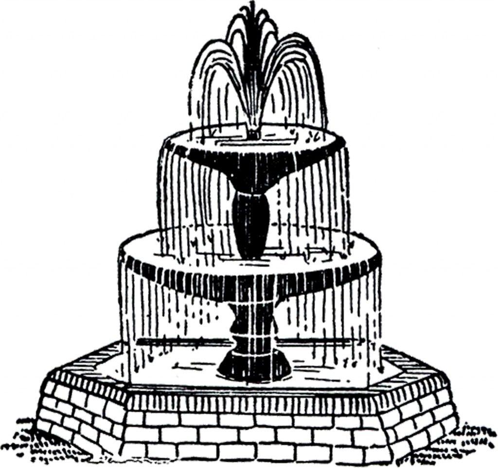 Clip Art Fountain Clipart free vintage fountain clip art the ojays and art