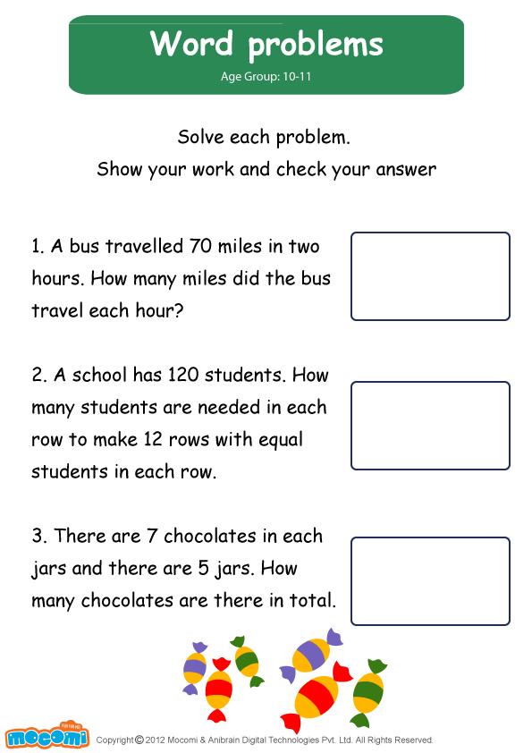 Word Problems Worksheet - Mocomi for Kids | Maths for Kids ...