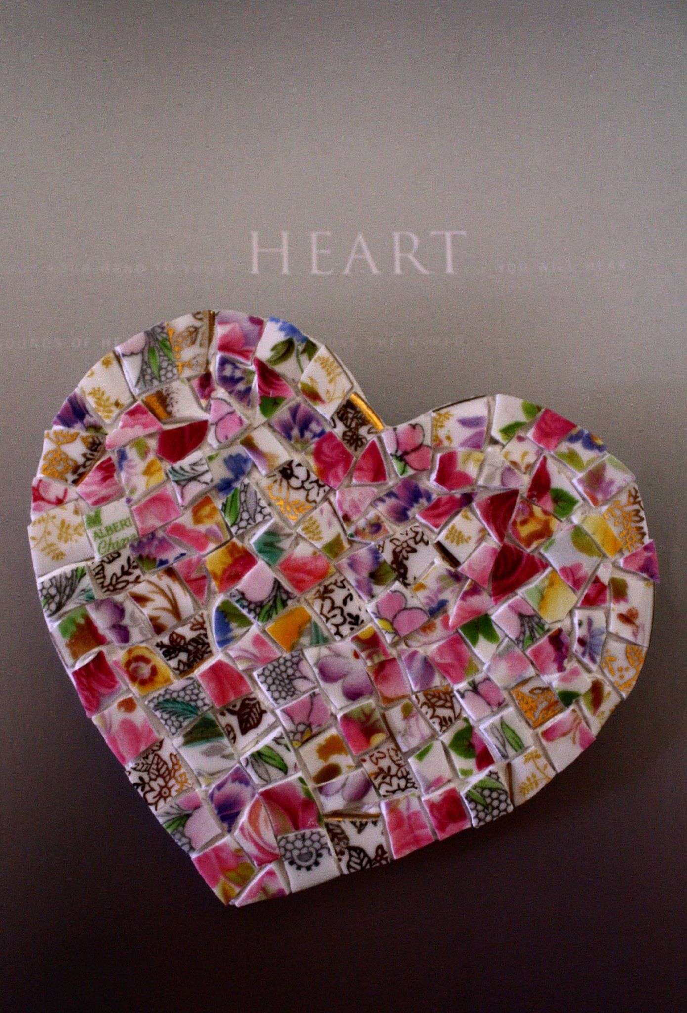 Sold custom made butterfly mosaic table top for mary ann in texas - Mosaic Heart