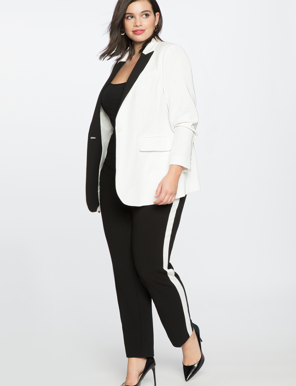 Slim Trouser With Side Stripe | Women's Plus Size Pants | ELOQUII 2
