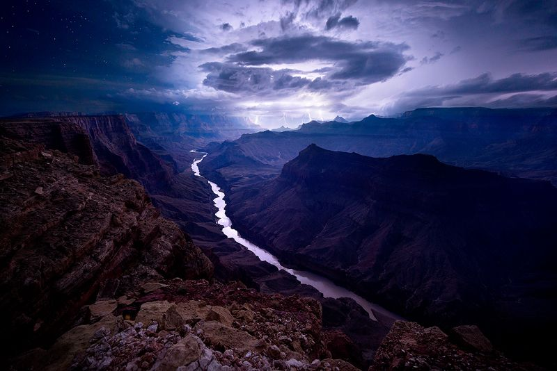 Grand Canyon, Arizona, USA Once Upon A Storm by ColinHSillerud