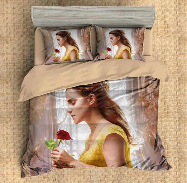 3d customize beauty and the beast bedding set duvet cover