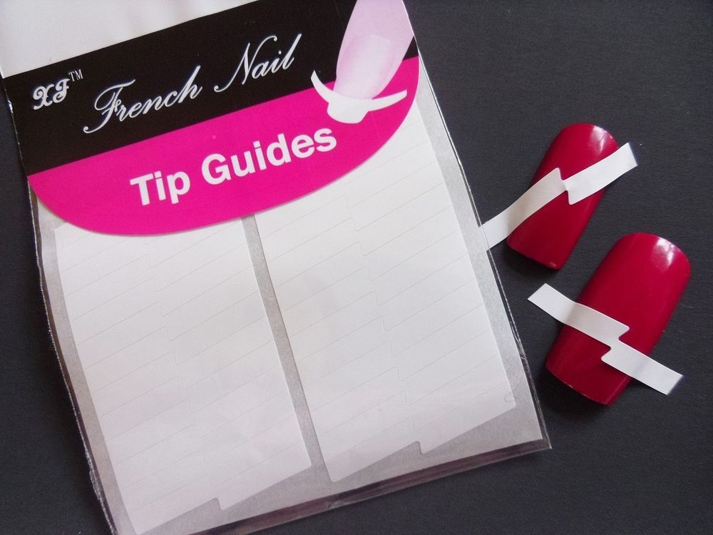 Nail Art White French Manicure Guide LighteninG Tip Acrylic UV ...