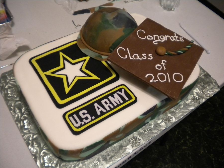 Graduation And Then Into The Army Graduation Cake