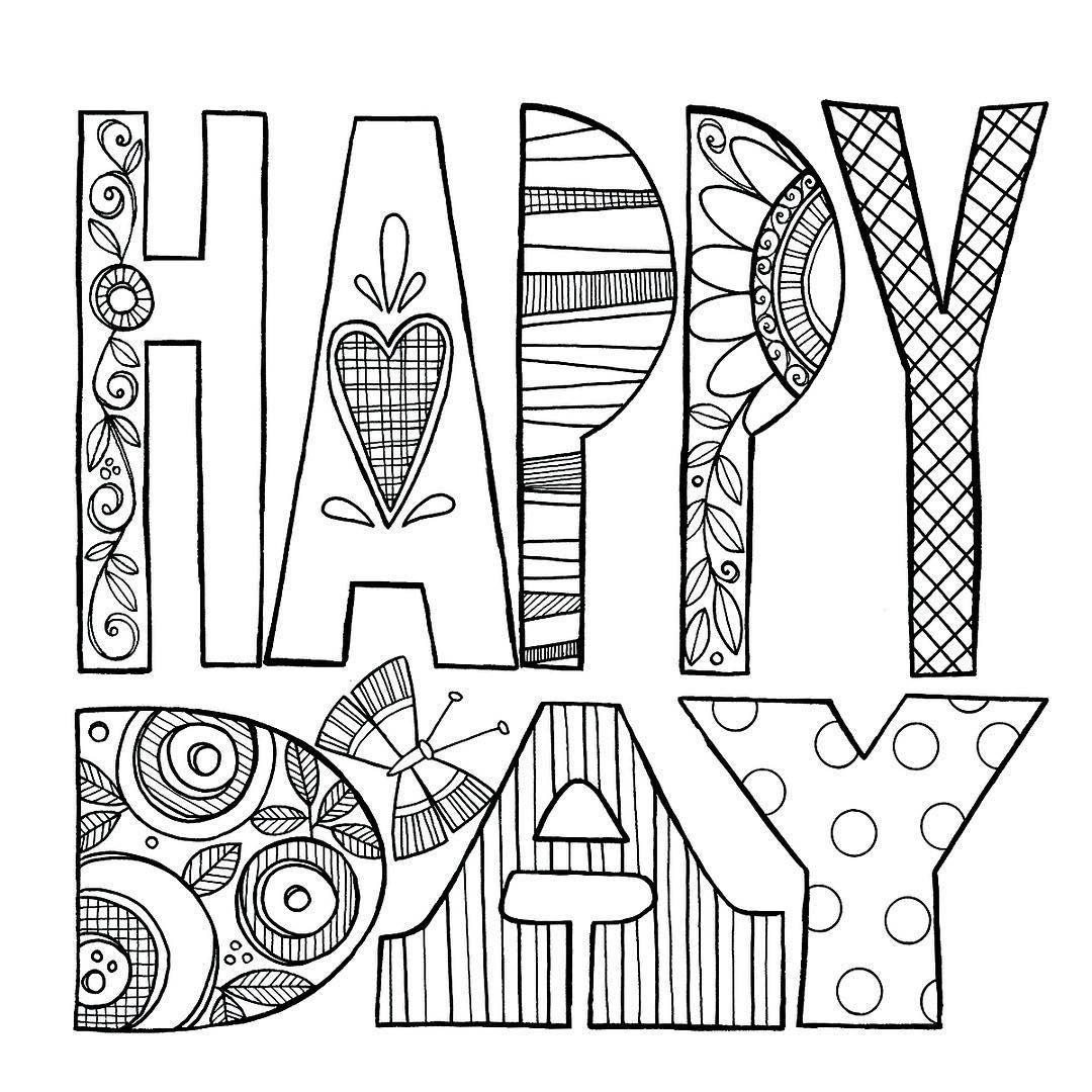 Oh Happy Day Drawingdrawingdrawing Handdrawntype