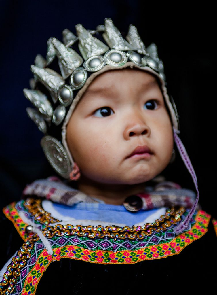portrait of a miao child, fanpai village, guizhou, china | traditional culture