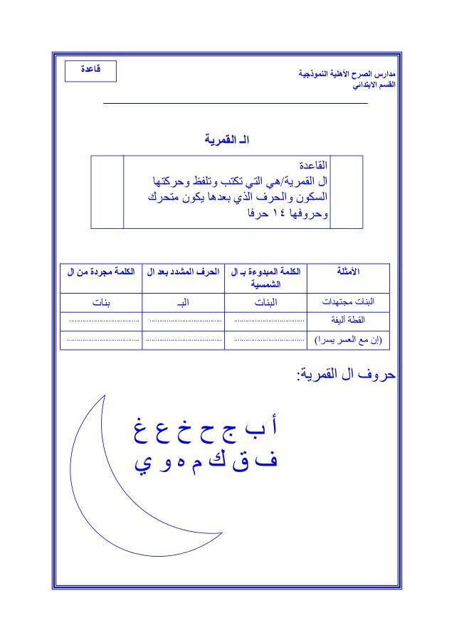ملزمة لغتي للصف الأول الأبتدائي الفصل الثاني Learning Arabic Arabic Alphabet For Kids Learn Arabic Alphabet