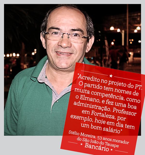 O Stélio Moreira mora no São João do Tauape e lá todo mundo tá com #Elmano13doPT