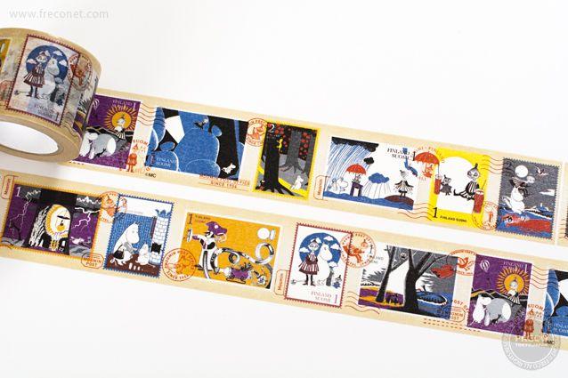 ムーミンマスキングテープ 切手シリーズ それからどうなるの?(moo-st001)【宅急便配送】