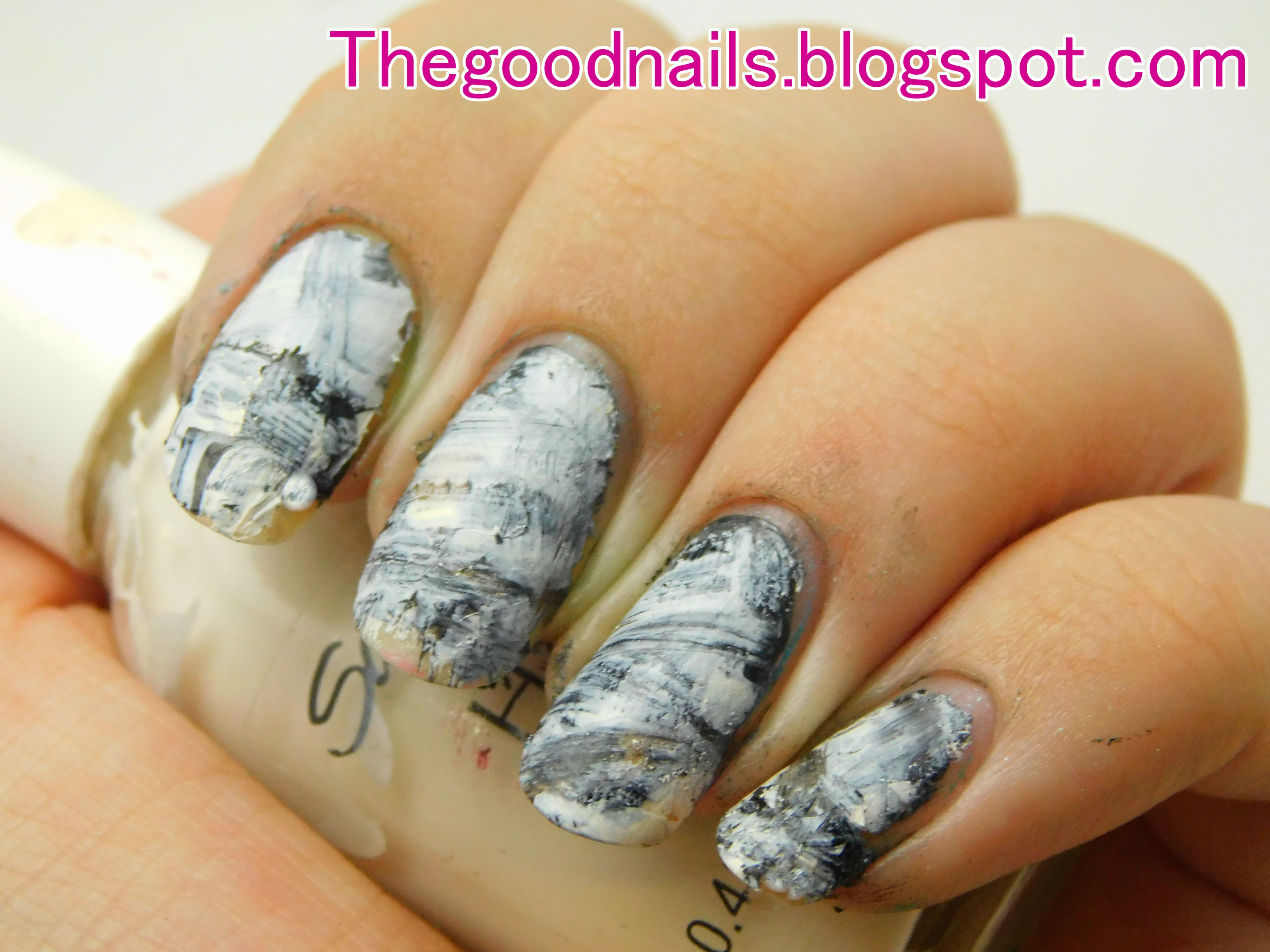 Black And White Abstract Nail Art Tutorial Using Stamper With