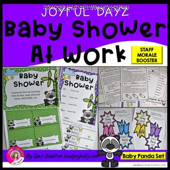 dad5ed71afa JOYFUL DAYZ Baby Shower At Work (Baby Panda Set)