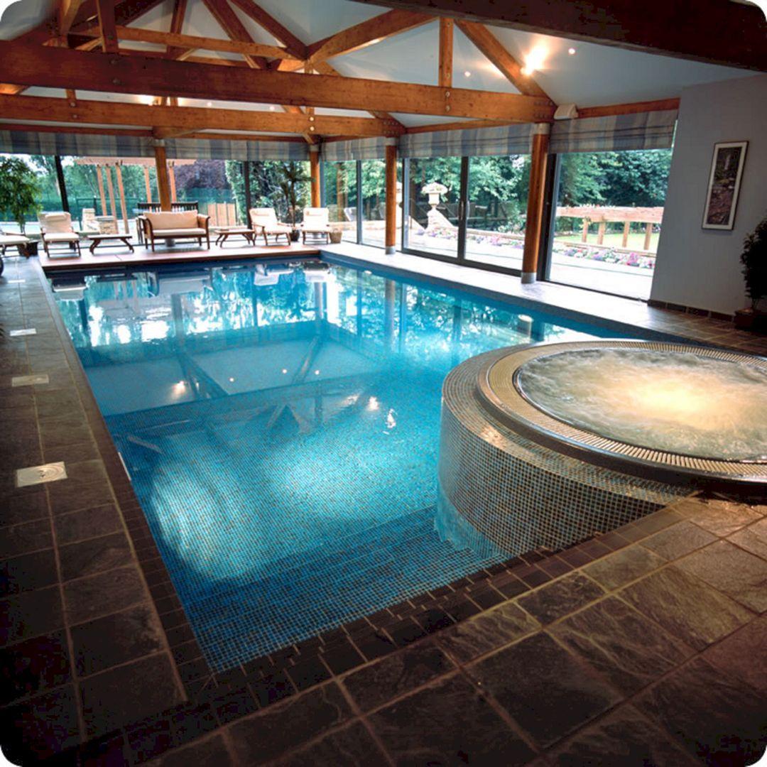 25 Stunning Indoor Swimming Pool Design For Luxury Home Decoration Freshouz Com Indoor Swimming Pool Design Dream Pool Indoor Indoor Pool Design