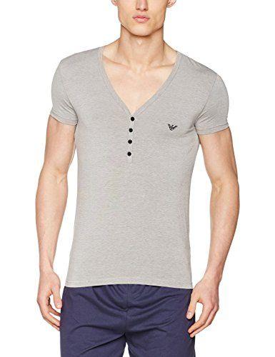 Emporio Armani Underwear 1110877P586, Top pigiama Uomo, Multicolore (BRONZO/BIANCO), X-Large