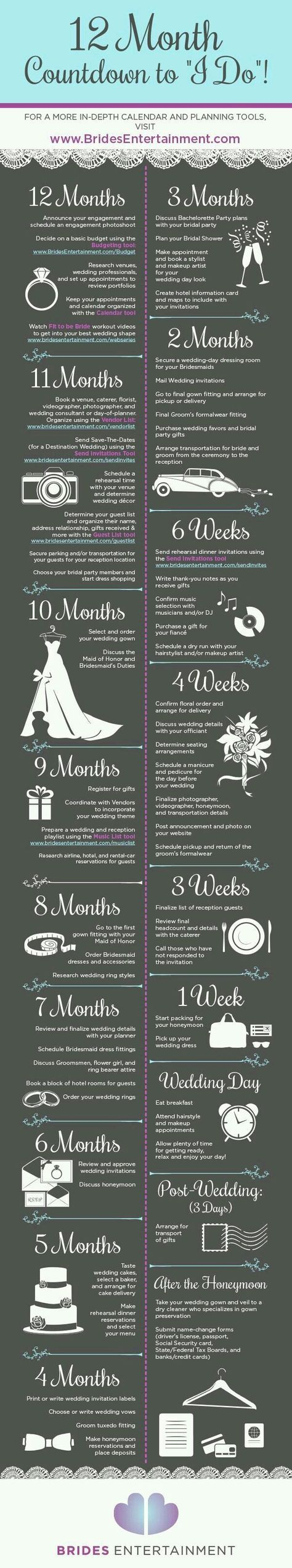 useful wedding planning infographics to give some ideas and tips