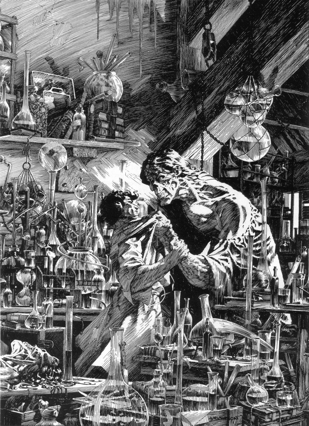 Bernie Wrightson Illustrations Of Mary Shelleys Frankenstein