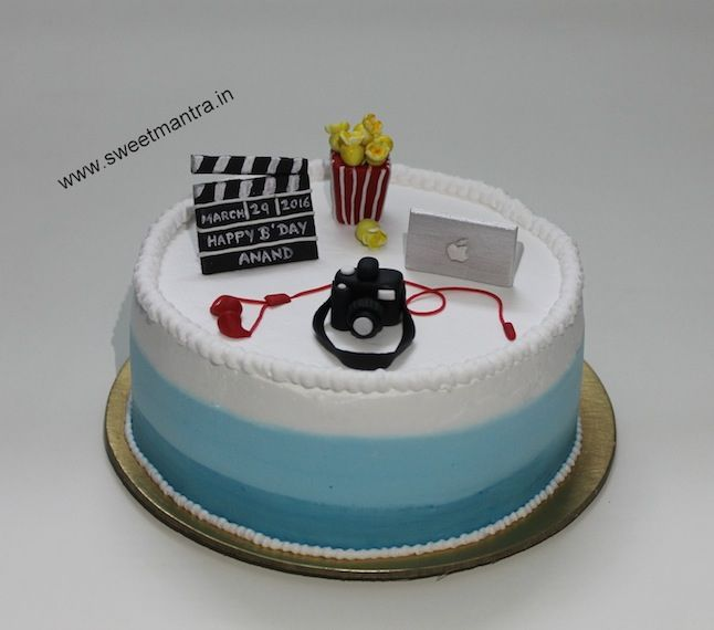 Customized handcrafted fondant IT Gadgets camera laptop