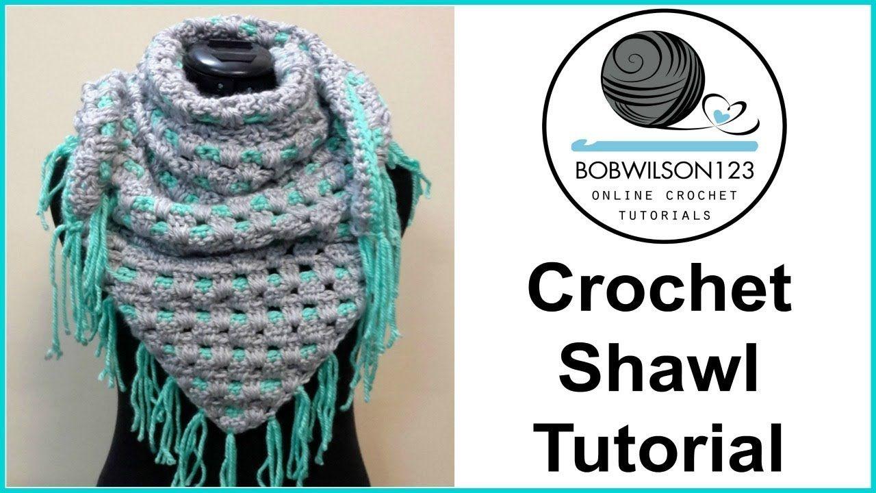 Across the line crochet shawl tutorial - YouTube | Crafting | Pinterest