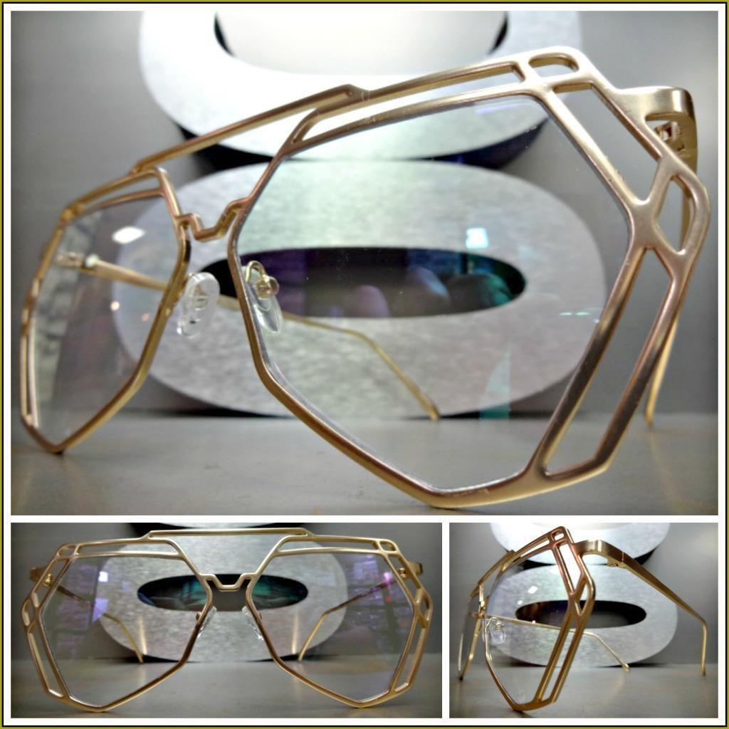 CLASSIC VINTAGE CAT EYE Style Clear Lens EYE GLASSES Hematite Crystals Handmade