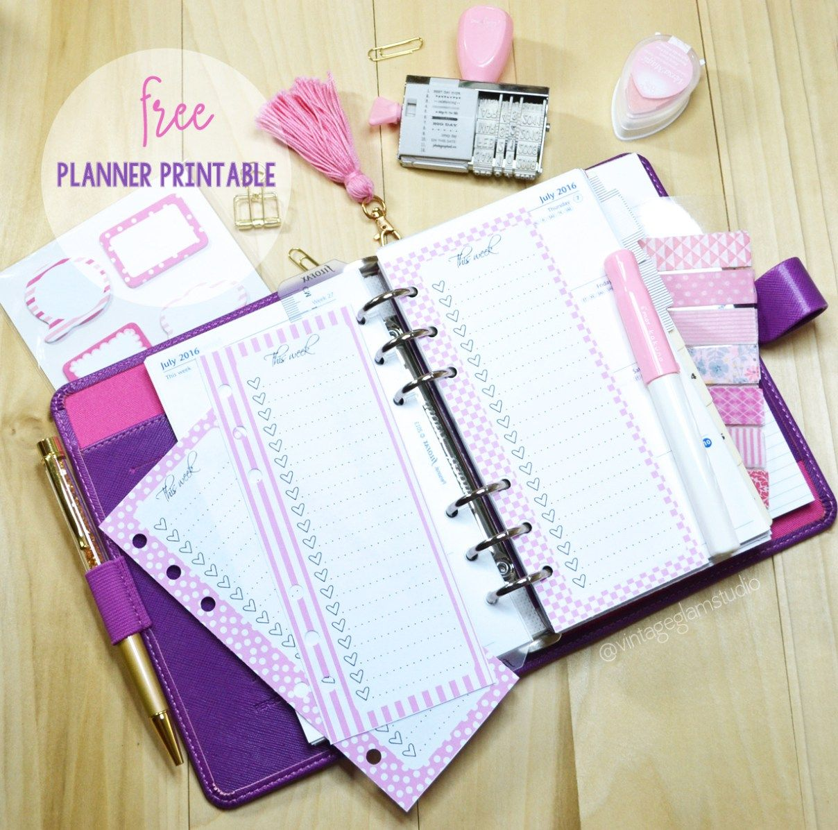 Personal Planner Lists Inserts - Free Printable -