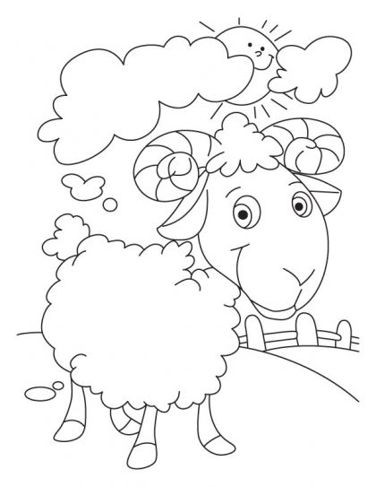 Sun in cloud, Sheep wool my proud coloring pages Download Free Sun - best of coloring pages for year of the sheep