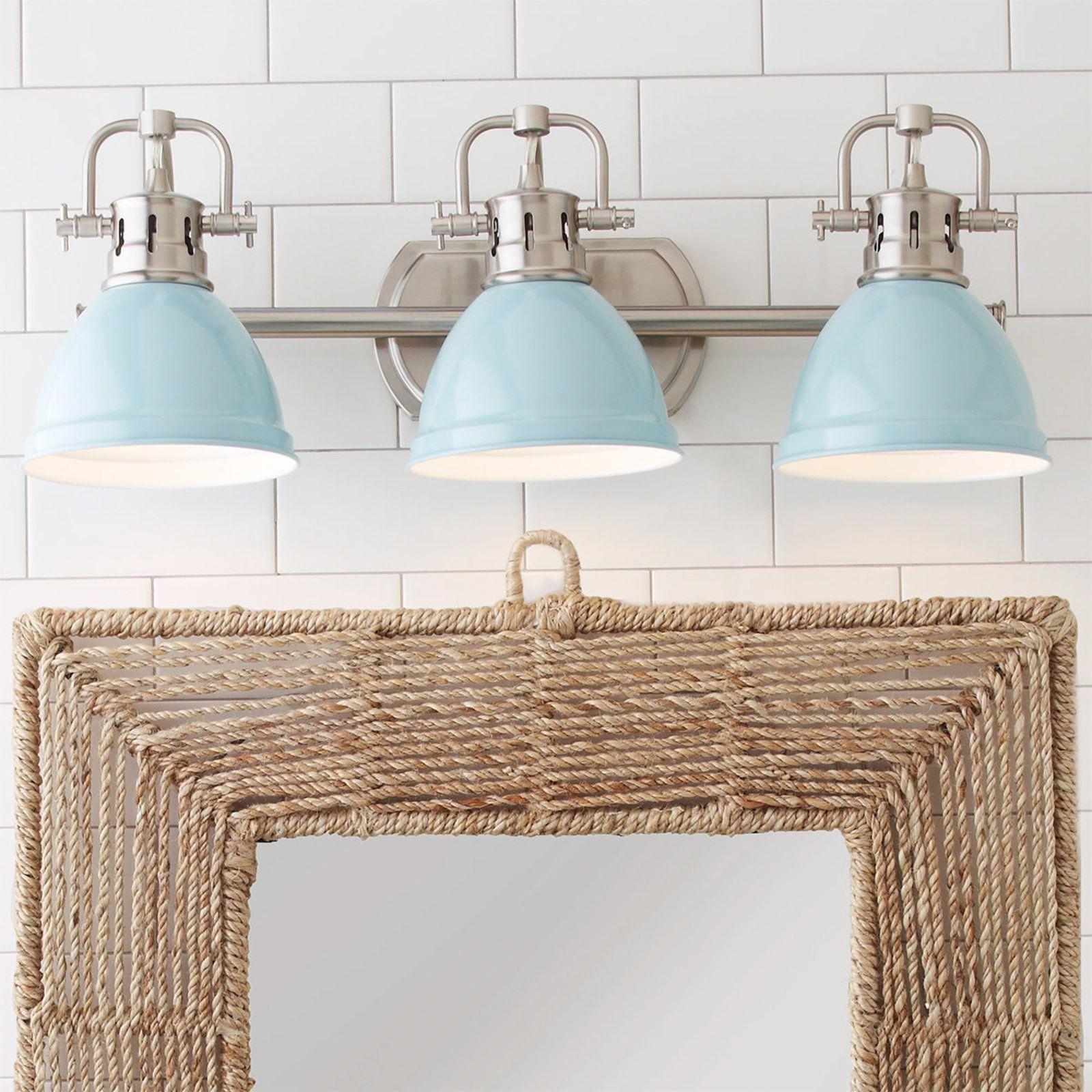 Classic Dome Shade Bath Light - 3 Light | Beach house ...