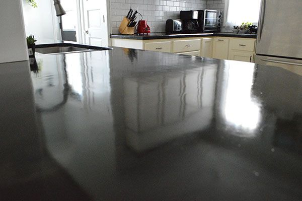 Sealing Skim Coated Concrete Counter Tops Use The Method