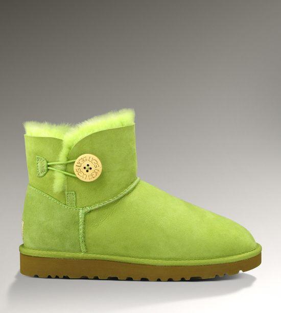 UGG Mini Bailey Button 3352 Green Boots
