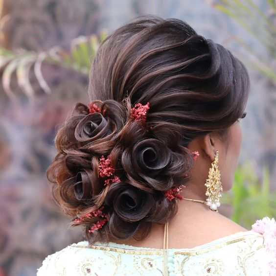 Sweet Elegant Bridal Bun Hairstyles Ideas Indian Fashion Ideas Indian Fashion Ideas Bun Hairstyles For Long Hair Bridal Hair Buns Long Bridal Hair