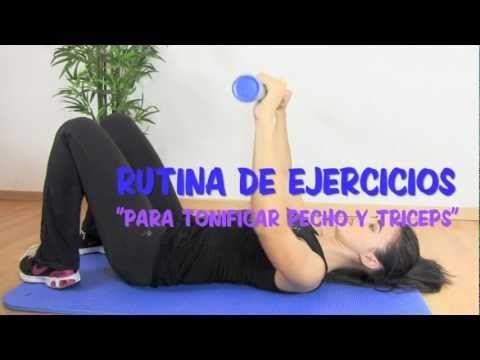 Rutina de ejercicios de pecho y triceps.