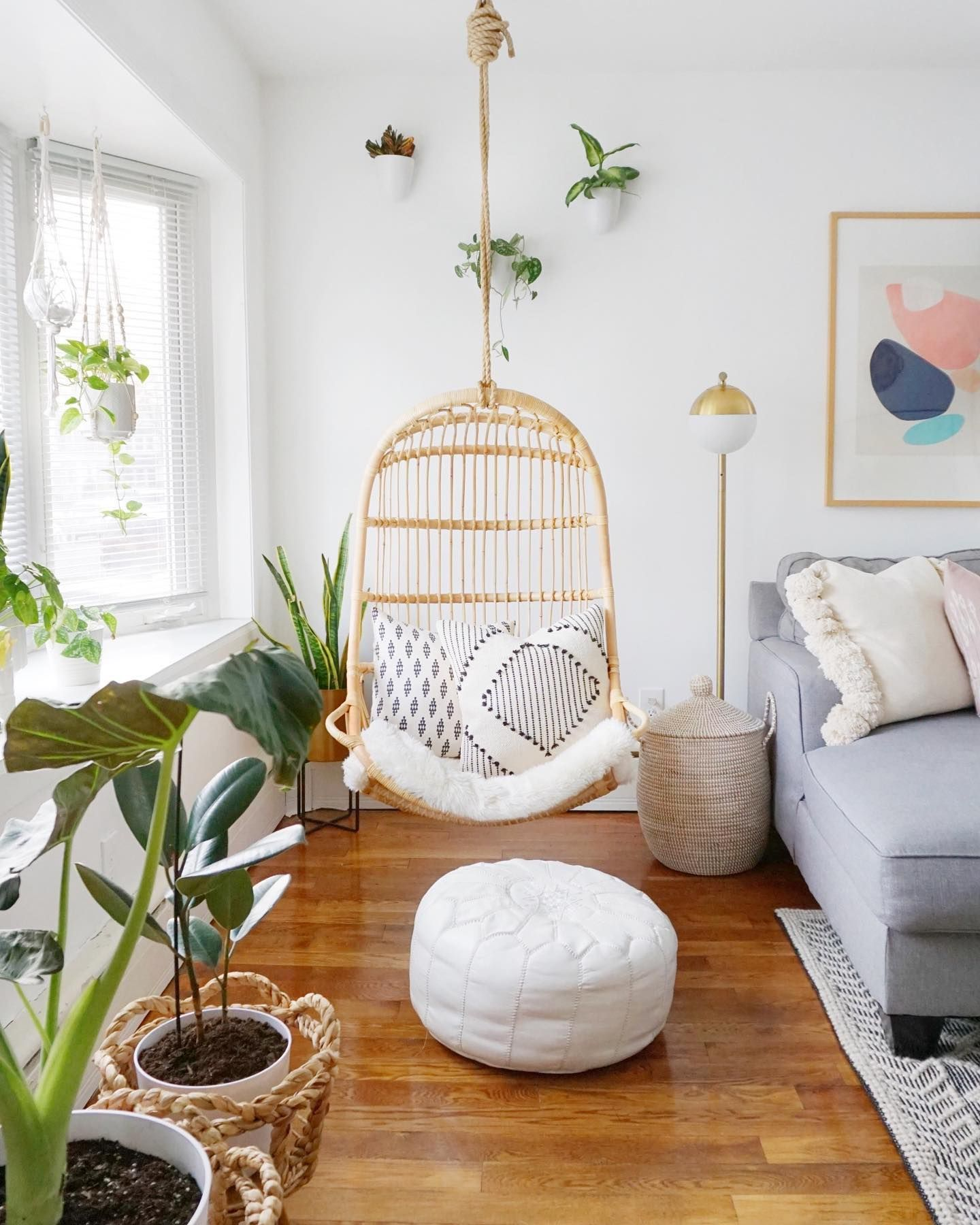 Pin By Emilia On House Ideas In 2021 Hanging Chair Living Room Living Room Chairs Hanging Rattan Chair