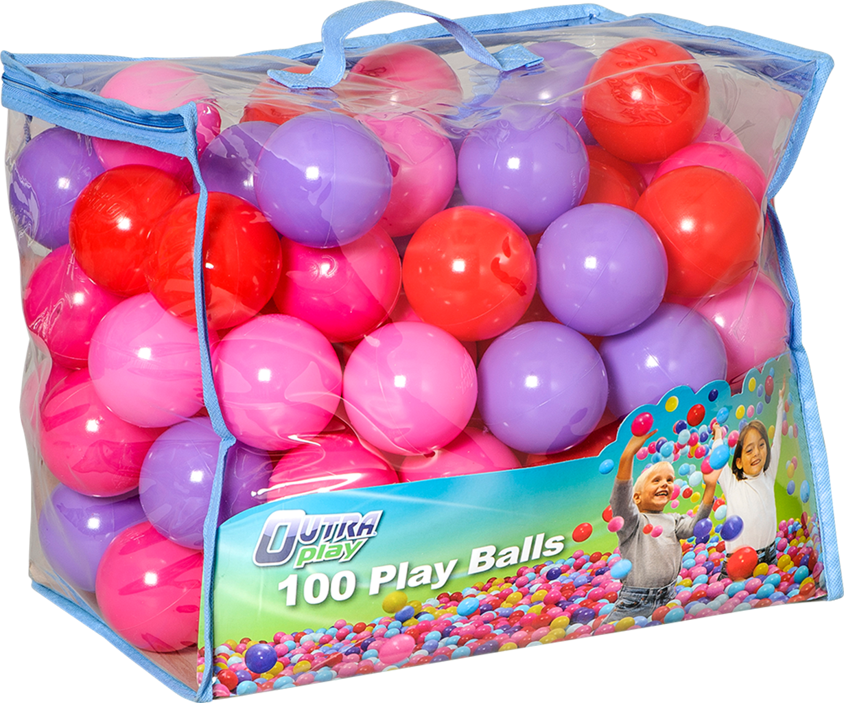 BR-lelut: Outra Play -pallosetti 100 kpl puna-pinkkinä x2. 17,99 € / kpl