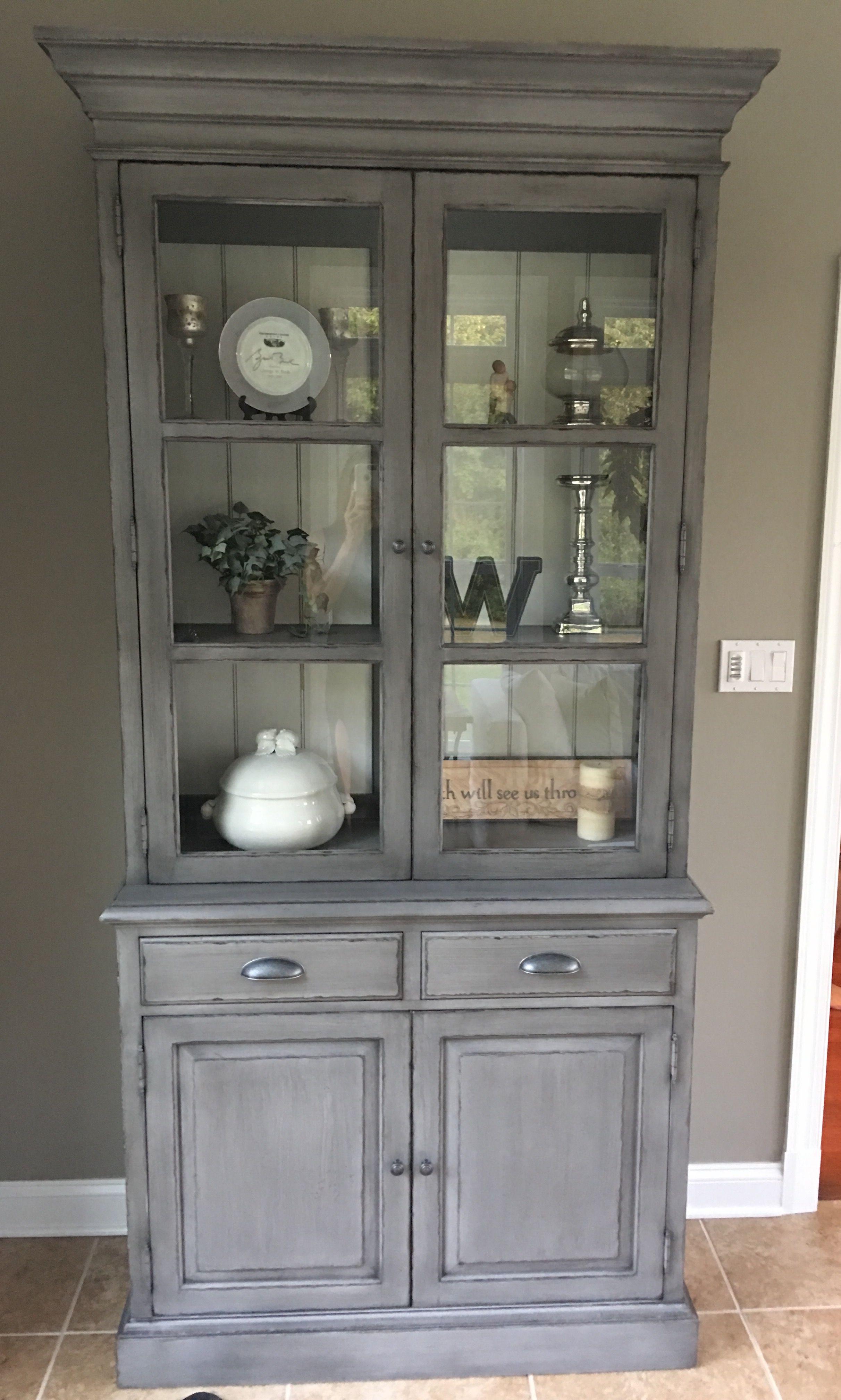 My New Ethan Allen Cabinet Putting Lock On Bottom Doors