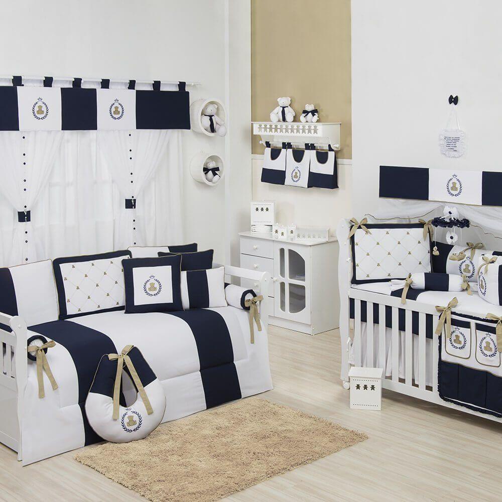 Quarto Para Beb Teddy Marinho Quarto De Beb Azul Marinho  ~ Espelho Para Quarto Infantil E Quarto De Bebe Cavalinho