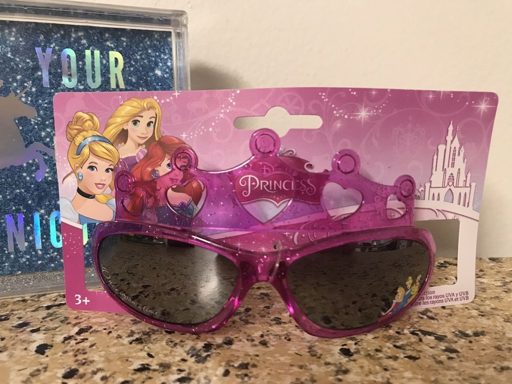 Disney Princess Girls Pink Crown Sunglasses