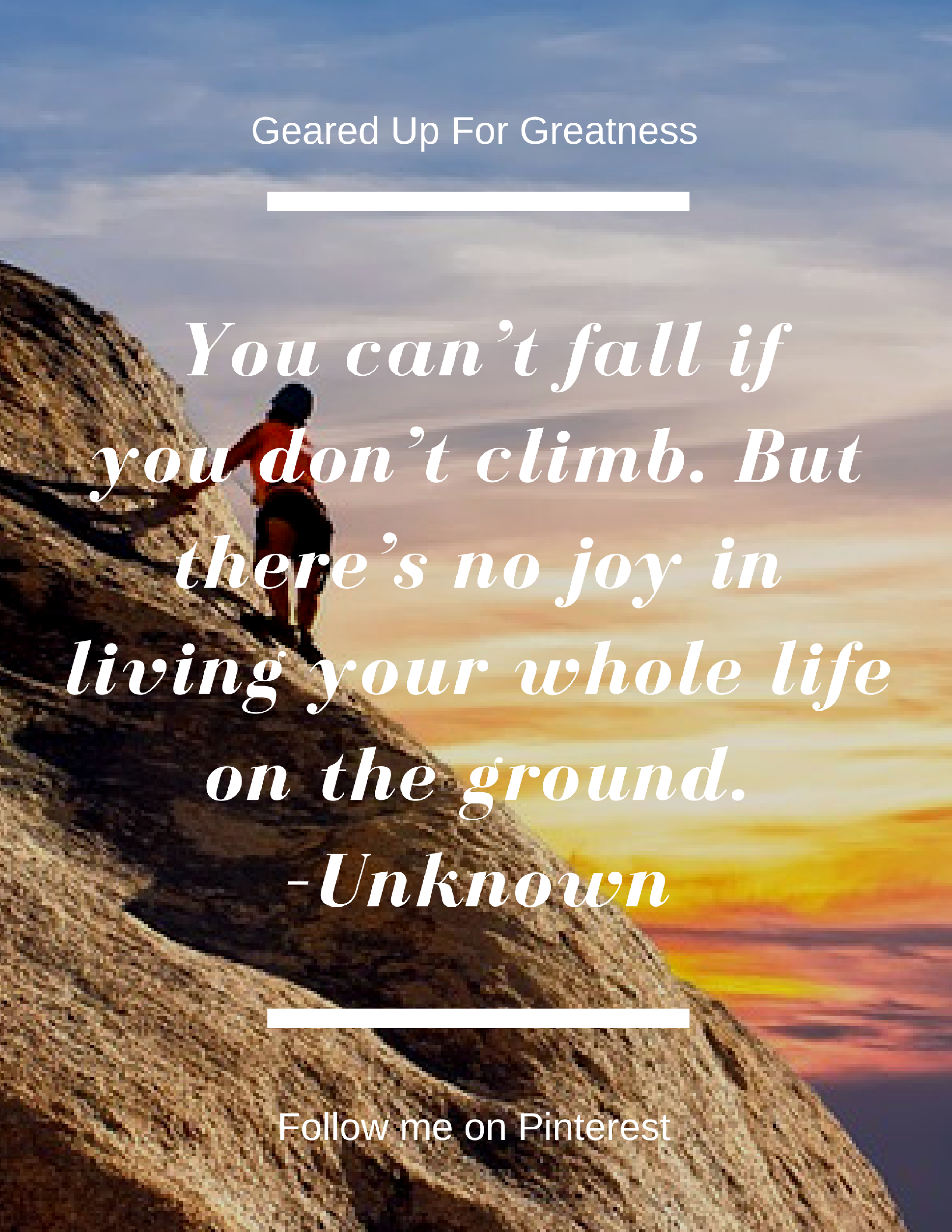 Your comfort zone may feel safe, but your can't reach your goals being  safe. So climb your mountain top and create the life of your dreams.
