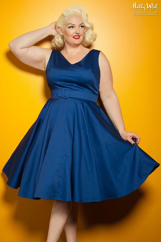 Plus size pin up style wedding dress  Havana Nights Dress in Dark Midnight Blue  Plus Size  I Want