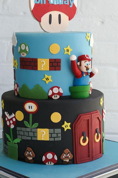 Super Mario Brothers Birthday Cake By Erica Obrien Cake Design Ct