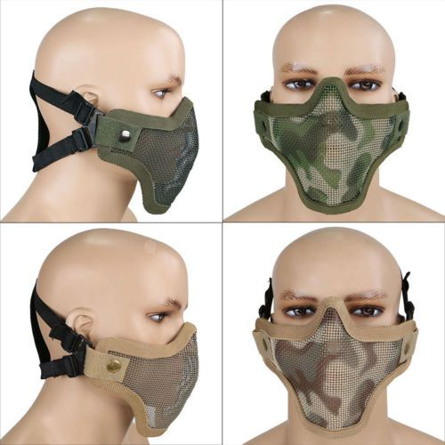 Airsoft  tactical mesh  lower half face protective mask military paintball  -dese 1244b1ec9b9f